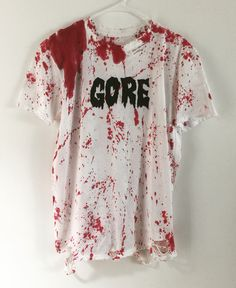 Gore t-shirt from ChadCherryClothing! Horror t shirt, distressed horror movie t shirt.