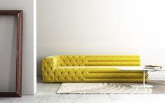 Stretch sofa from Seminato Mercadante. Rendering by Studio Roberto Paoli.
