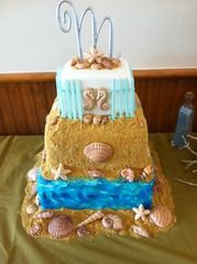 THE cake..just needs a mermaid on top of it!