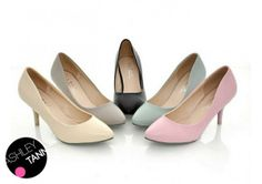 FREE SHIPPING Beige/Black/Blue/Grey/Pink NEW Womens Kitten Vintage Sz 34-43 Pump Court Mid Heels Shoes SH07# US $31.99