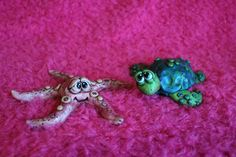 Starfish and Sea Turtle Polymer Clay by mirandascritters on Etsy, www.mirandascritters.etsy.com or www.facebook.com/mirandascritters