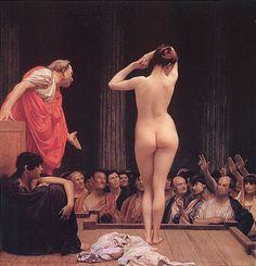 Selling Slaves in Rome - Jean-Léon Gérôme www.showcasebot.com