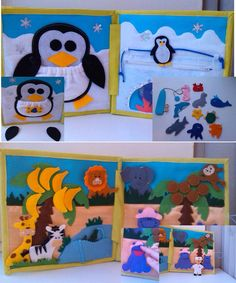 Children's Quiet Book Busy Book Eco friendly by HappyMumToys