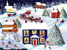 """Christmas Eve Americana"" - Cheryl Bartley"