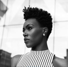 Natural Hair Short Cuts, Tapered Natural Hair, Short Hair Cuts, Natural Hair Styles, Tapered Twa, Natural Curls, Twa Hairstyles, Black Hairstyles, Hairstyles Pictures