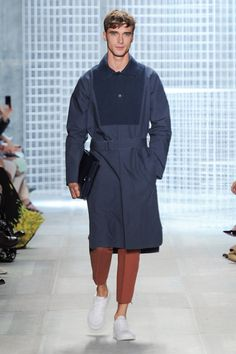 Spring-Summer 2014 Show (Photo credit: Lacoste/Yannis Vlamos) Summer 2014, Spring Summer, Lacoste, Photo Credit, Raincoat, Normcore, Menswear, Jackets, Style