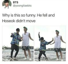 He didn't fall, he went to go get his money that flew away, why dafuq you lyin??? J-hope is an angel from heaven whether you like it or not.