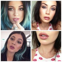 This is a quick and simple tutorial!Inspired by Kylie Jenner because her makeup is looking beyond BUFF recently...She wears a lot of nudes with pinky/purpley undertones and over lines her lips wi...