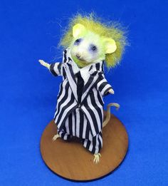 The Mouse with the most Beetlejuice, Taxidermy, Dinosaur Stuffed Animal, Trending Outfits, Toys, Unique Jewelry, Handmade Gifts, Animals, Vintage