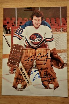 Gary Bromley with the Winnipeg Jets, WHA.