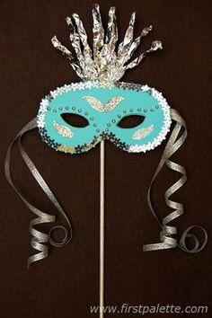 masquerade mask making! masquerade mask making! Blue Masquerade Masks, Masquerade Party, Carnival Crafts, Carnival Masks, Halloween Masks, Halloween Party, Halloween Kids, Fun Crafts For Kids, Arts And Crafts