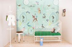 Behang Voor Kinderkamer : Beste afbeeldingen van behang kinderkamer in retro print