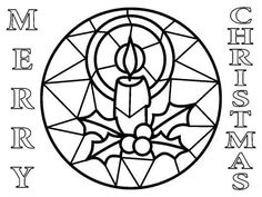 stain glass christmas coloring pages - photo#27