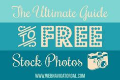 Bookmark this handy reference for the best free stock photo sites on the web!  http://www.webnavigatorgal.com/free-photo-stock/