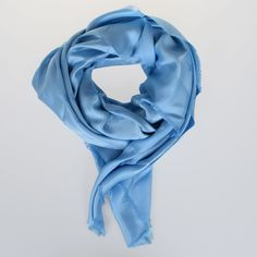 Dior 140 x 140 cm Silk & Wool Shawl (17.765 RUB) ❤ liked on Polyvore featuring accessories, scarves, light blue, christian dior scarves, wool shawl, shawl scarves, silk shawl and fringe scarves