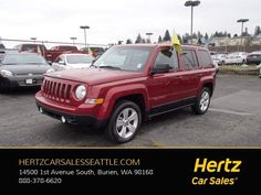 Used 2016 Jeep Patriot Latitude for sale at Hertz Car Sales Seattle in Burien, WA for $12,995. View now on Cars.com. 1st Avenue, 2016 Jeep, Jeep Patriot, Car Sales, Dog Car, Cars For Sale, Seattle, Cars For Sell
