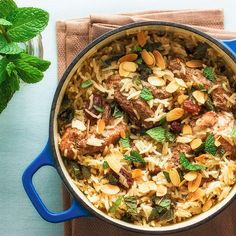 A splash of coconut milk adds a creamy touch to the warm spices in this healthy one-pot chicken and rice. Indian Food Recipes, Asian Recipes, Healthy Recipes, Meat Recipes, Rice Cooker Recipes, Cooking Recipes, Speedy Recipes, Spiced Rice, One Pot Chicken