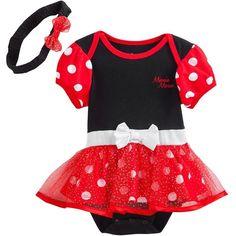 Disney Mickey Mouse and Friends Minnie Mouse Bodysuit Dress - Baby Disney Tutu, Disney Gift, Baby Disney, Mickey Mouse And Friends, Disney Mickey Mouse, Minnie Mouse, Minnie Dress, Bodysuit Dress, Girls Dress Up
