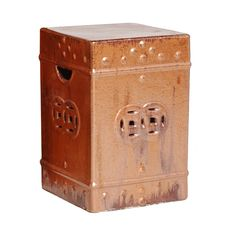 Square Ceramic Fortune Stool/Table in Cinnabar