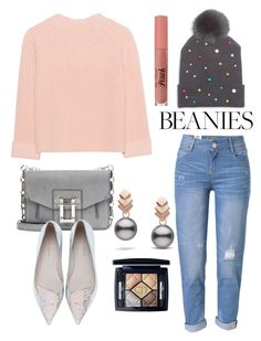 """""""Beanie"""" by samssr ❤ liked on Polyvore featuring WithChic, House of Lafayette, iHeart, Proenza Schouler, Sophia Webster, Escalier and Christian Dior"""