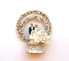 1950s Vintage Wedding Cake Topper. $55.00, via Etsy.
