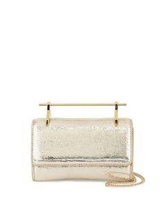 Fabricca+Mini+Metallic+Textured+Satchel+Bag,+Gold+by+M2Malletier+at+Bergdorf+Goodman.