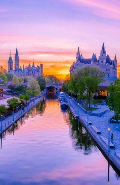 Ottawa  Canada Alaska, Ottawa Canada, My Father's World, Canadian Travel, Sunset Landscape, I Want To Travel, Beautiful Places, Beautiful Scenery, Photo Reference