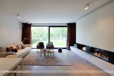 Small Living, Living Area, Fireplace Wall, Basic Colors, Accent Colors, New Construction, Sliding Doors, Ramen, My Design