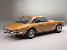 The 1966 Ferrari 330 GTC is a remarkable vehicle designed by the iconic Italian manufacturer Pininfarina. The particular model featured here, in a stunning gold color, will be up for auction at Villa Erba, in May 2017. Photos by Tom Gidden More classic cars via Airows #ferrarivintagecars