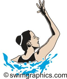 Synchronized Swimming Solo Clipart: Page Five.