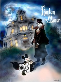 Count Mickey Dragul- the Phantom Manor by twisted-wind on DeviantArt Minnie Mouse, Mickey Mouse And Friends, Disney Images, Disney Pictures, Disney Posters, Disney Cartoons, Disney Fan Art, Disney Love, Disney Artwork