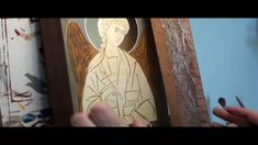 VIDEO: How to paint Angel& wings by Julia Bridget Hayes Crafty Angels, Orthodox Icons, Painting Videos, Sacred Heart, Religious Art, Angel Wings, Madonna, Decoupage, Diy And Crafts