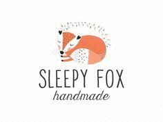 Premade Logo Design, Animal logo, Children Clothing Logo, Cute Fox Baby Boutique Logo, Blog Header 109