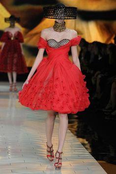Lady in red Alexander Mcqueen