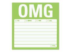 OMG Sticky Notes - Funny Sticky Notes by Knock Knock #KnockKnockStuff