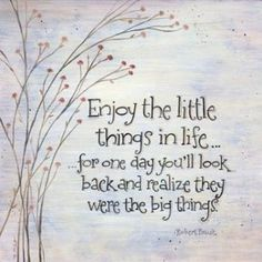 The little things matter