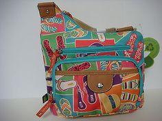 Lily-Bloom-Flip-Flop-Cross-body-Bag-Handbag-Purse-Messenger-Bag
