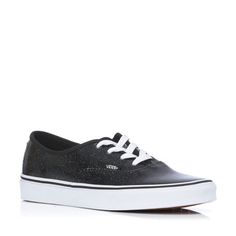 Love  3 Vans authentic black sparkly leather  3 2772d333f
