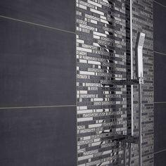 Mosaic 4 + 1 ice trend, gray and chrome, 30 x 30 cm - Wood Mirror Bathroom, Bathroom Plants, Bathroom Wall Decor, Bathroom Design Layout, Bathroom Interior Design, Neo Futurism, Grey Toilet, Beach House Bedroom, Architectural Design House Plans
