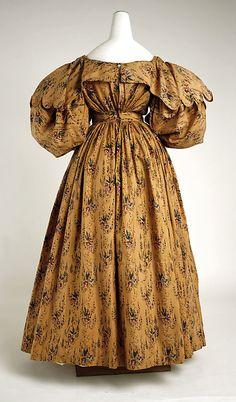 Walking dress Date: ca. 1830 Culture: British Medium: cotton