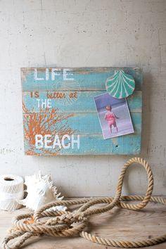 Life at the beach photo holder... Great DIY idea!