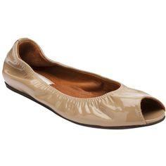 LANVIN Peep toe flat ($495) found on Polyvore