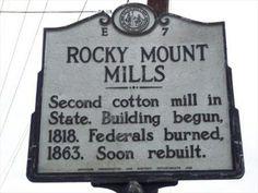 Rocky Mount Mills | Rocky Mount Mills | E-7 - North Carolina Historical Markers on ...