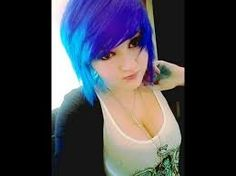 Half and half purple/blue