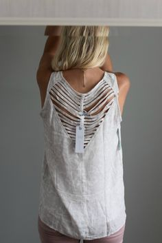 Gentle Fawn Lamont Cut Out Back Top