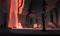 Animation Backgrounds painted by Scott Wills. Clone Wars (2004) Acryic.