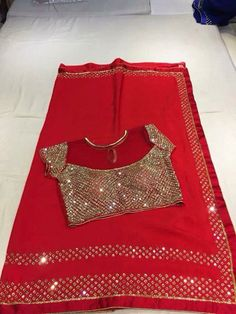 How to buy it Simple Saree Designs, Simple Sarees, Trendy Sarees, Fancy Blouse Designs, Stylish Sarees, Fancy Sarees, Saree Blouse Neck Designs, Saree Blouse Patterns, Blouse Models