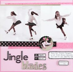 ice skating scrapbook page ideas - Google Search
