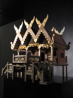 Spirit house from Thailand - mid-century