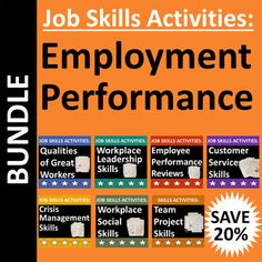 employment performance bundle teaches students critical job skills using real life employment situations examples